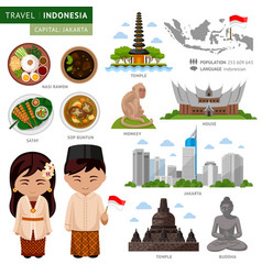 Travel to indonesia bali vector