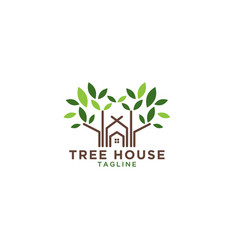 tree house logo design template vector image