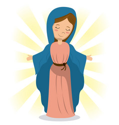 virgin mary holiness divine image vector image