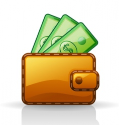 wallet vector image