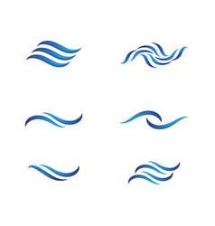 water wave icon design vector image