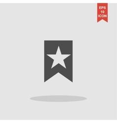 Web Bookmark Ribbon Icon vector image