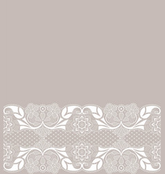 weddding card with lace vector image