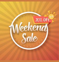 Weekend sale poster vector