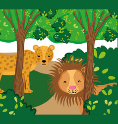 wildlife cute animals vector image