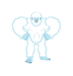 Yeti angry bigfoot evil abominable snowman vector