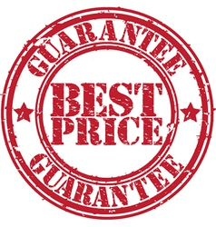 Best Price guarantee stamp vector image