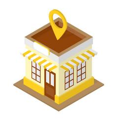 building location isometric vector image