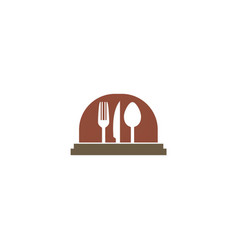 food serve cooking logo vector image