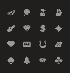 slot machine - flat icons vector image