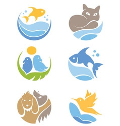 A set of icons - Pets vector image vector image