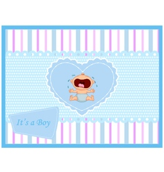 Baby crying card vector image