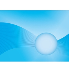 blue abstract wave background vector image vector image