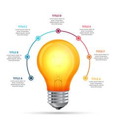 lightbulb infographic design template vector image