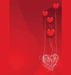 love is a balloon vector image vector image