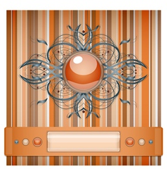 Orange and gray background with pattern vector image