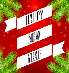 Ribbon Happy New Year vector image vector image