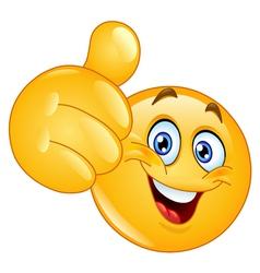 thumb up emoticon vector image vector image