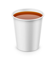 white paper cup with tea template vector image vector image