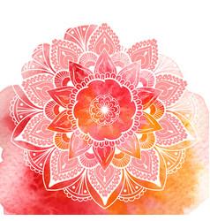 decorative floral mandala vector image