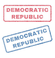 democratic republic textile stamps vector image vector image