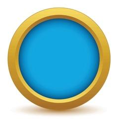 Gold empty icon vector image