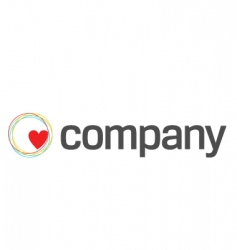 heart care charity logo vector image vector image