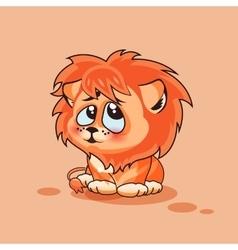 Lion cub confused vector