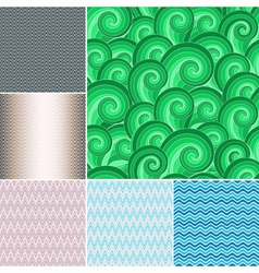 Set colorful patterns vector image