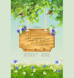 summer poster template vector image vector image