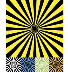 Funky retro background set cmyk vector
