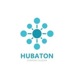 Hub connection logo design vector