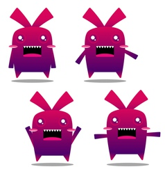 mad rabbit vector image vector image