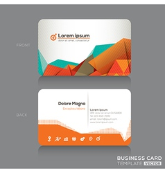 Modern Abstract Business cards Design Template vector image vector image
