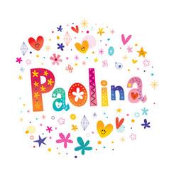 Paolina girls name vector