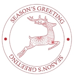 Season s greeting stamp vector image