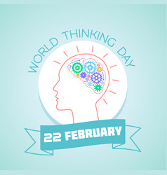 22 february world thinking day vector