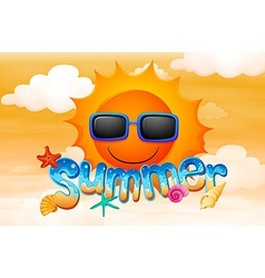 A summer artwork vector