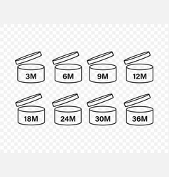 After opening use icons expiration date symbols vector