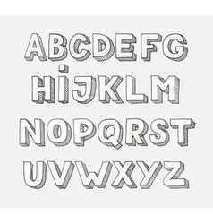 Alphabet Hand drawn letters vector