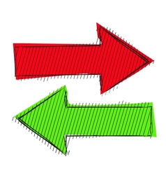 Arrows left right vector image
