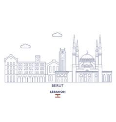 Beirut city skyline lebanon vector