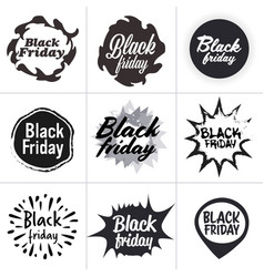 big sale stickers set black friday special offer vector image