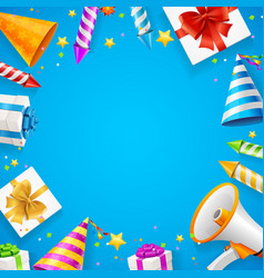 birthday or anniversary celebration banner card vector image