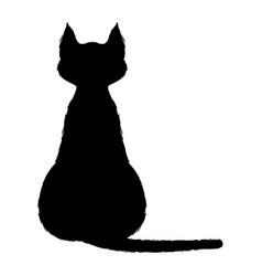 black cat 0004 vector image