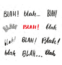 blah blah words hand written set isolated on vector image