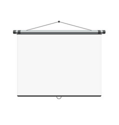 Blank white board vector