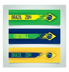 Brazilian design banners vector