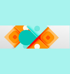 Bright color circles abstract round shapes and vector