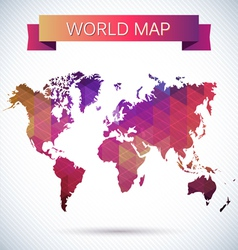 Bright map of the globe vector image